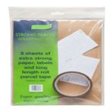 Strong Parcel Wrapping Kit (includes tape, brown paper and labels)
